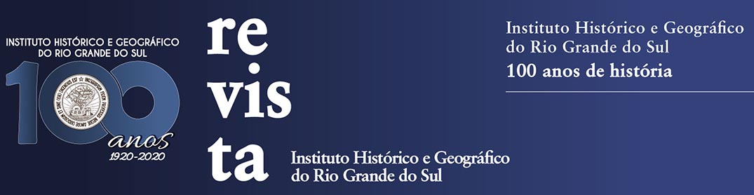 Revista do Instituto Histórico e Geográfico do Rio Grande do Sul
