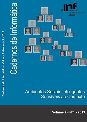 capa dos Cadernos de Informática volume 7 número 1