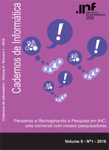 Capa Cadernos de Informática v9 n1 2016