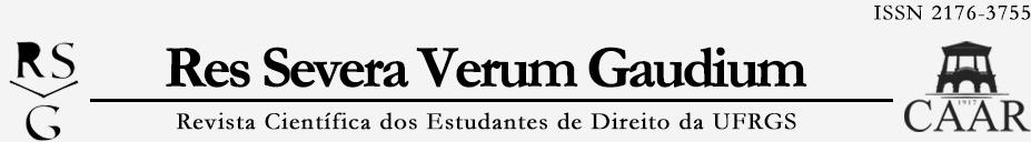 Bem-vindo à revista Res Severa Verum Gaudium, o periódico científico dos estudantes de direito da Universidade Federal do Rio Grande do Sul.